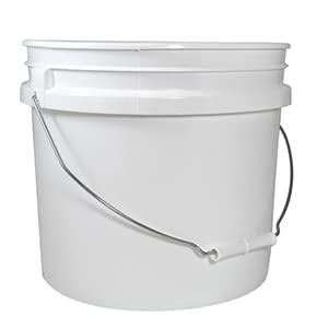 HDPE pail resealable microwavable removable handle 1 gallon 8 lbs
