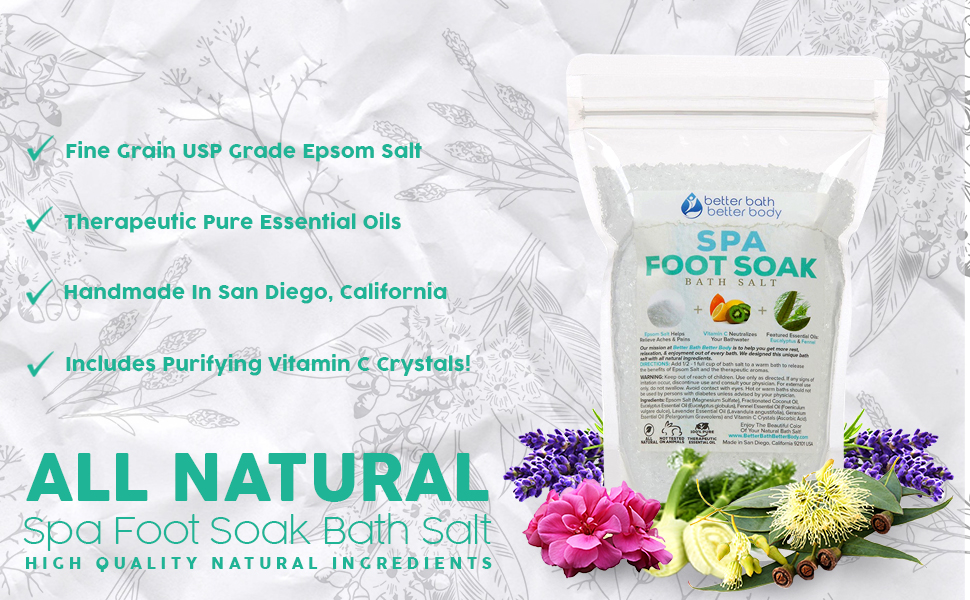 Detox Foot Soak 32oz /(2-Lbs/) Epsom Salt Foot Soak With Lemon