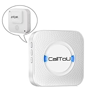 caregiver pager call button receiver adjustable volume  CallToU Caregiver Pager Wireless Call Button Nurse Alert System Help Button for Home/Elderly/Patient/Disabled Attention Pager 500+ Feet 1 Plugin Receiver 1 Waterproof Transmitter 4c9fa5ce 6c86 4260 be94 f765ae986aab