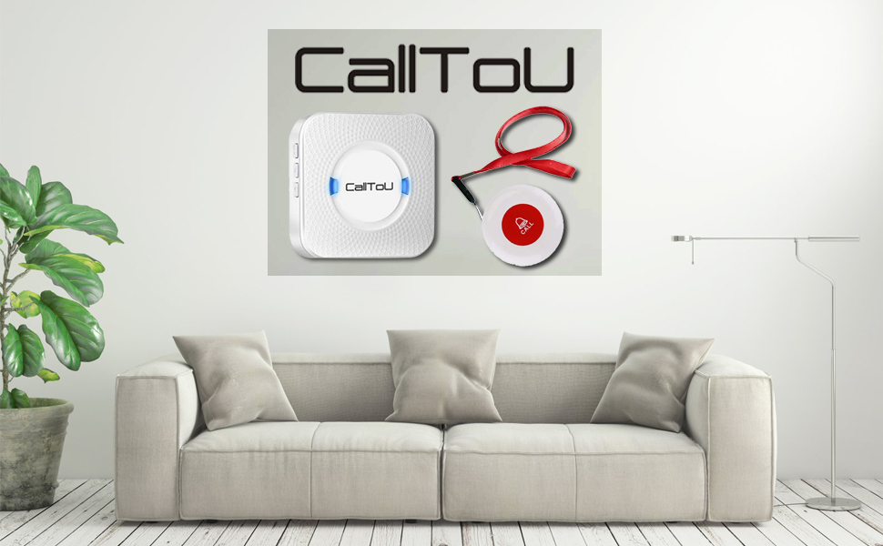 calltou caregiver pager call button  CallToU Caregiver Pager Wireless Call Button Nurse Alert System Help Button for Home/Elderly/Patient/Disabled Attention Pager 500+ Feet 1 Plugin Receiver 1 Waterproof Transmitter 8ecbcc45 3e1d 4866 8d05 2cffcaf05ba2