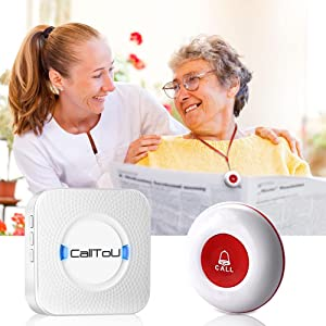 gift for christmas , caregiver pager ,call button  CallToU Caregiver Pager Wireless Call Button Nurse Alert System Help Button for Home/Elderly/Patient/Disabled Attention Pager 500+ Feet 1 Plugin Receiver 1 Waterproof Transmitter 932d004d cd25 459d a4e3 d79e00959728