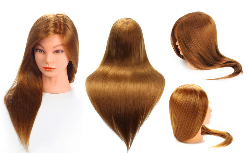 Hair Styling Mannequin Head: Amazon.com : Mannequin Head, MYSWEETY 20'' Inch Long Hair