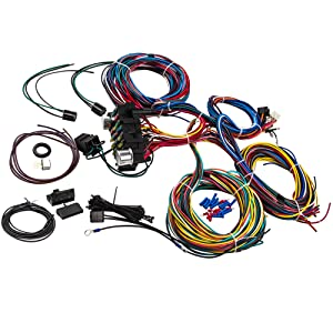Incredible Amazon Com Maxpeedingrods 21 Circuit 17 Fuses Wiring Harness For Wiring 101 Capemaxxcnl