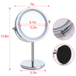 10x magnifying mirror with light 10x magnifying mirror with light travel Countertop Vanity Mirrors