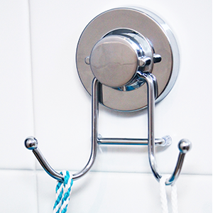 HOME SO Towel hooks in stainless steel with vacuum suction cups