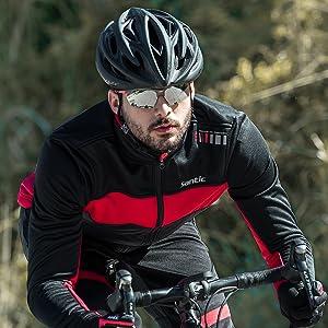 7238823bb Amazon.com   Santic Men s Cycling Jacket Winter Coat Windproof ...
