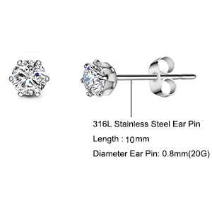 Get Your High Quanlity Hypoallergenic 5 Pair Ear Studing for Your Muti-Ear Piercing!