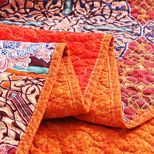 Reversible queen size quilt
