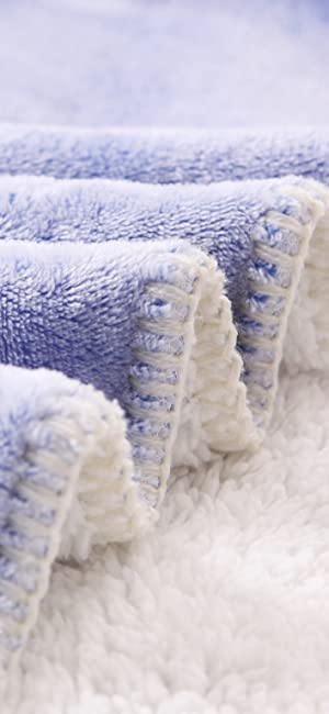 Amazon.com: Luxury Reversible Fuzzy Sherpa Throw Blanket, Soft and ...