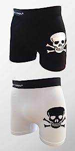 skull underwear for men, crazy cool, boxer briefs, mens underwear, mens boxer briefs