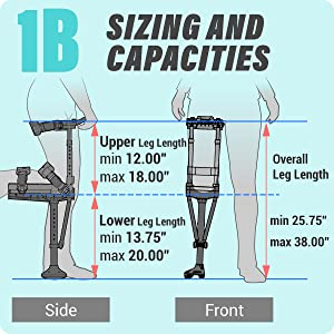 iWALK2.0 Sizing and Capacities