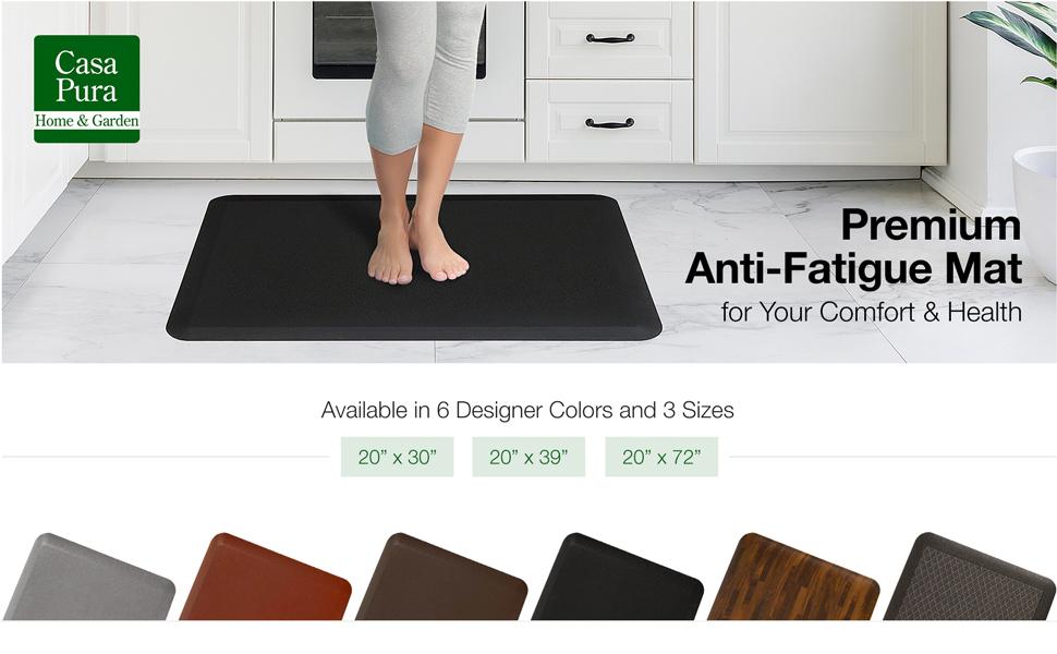 Amazon Com Kitchen Mat Anti Fatigue Mat 5 8 Thick Ergonomically Engineered Non Slip Waterproof 20 X39 Dark Brown Kitchen Dining