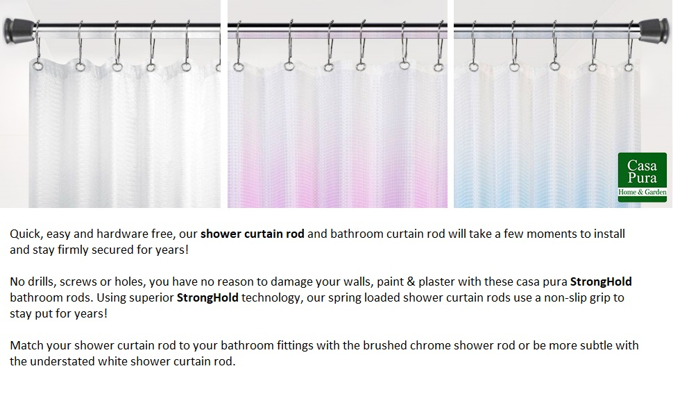 Shower Curtain Rod Benefits Listed With Ombre Curtains And Behind