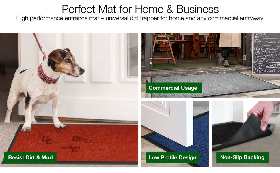 fall entrance office christmas waterhog doormats way outdoors garage large rubber backed back door
