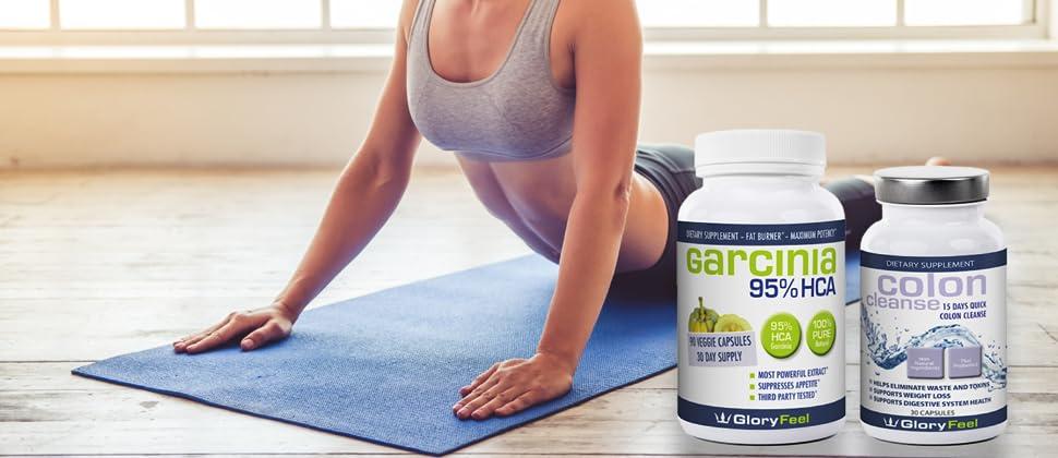 Gloryfeel Weight Loss Bundle 95 Hca Garcinia Cambogia Colon Detox For Women And Men