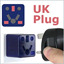 UK Hong Kong Singapore plug to US outlet adapter travel charger small compact Cute red socket gift