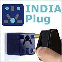 India plug to US outlet adapter travel charger small compact Cute red socket gift ROAD WARRIOR