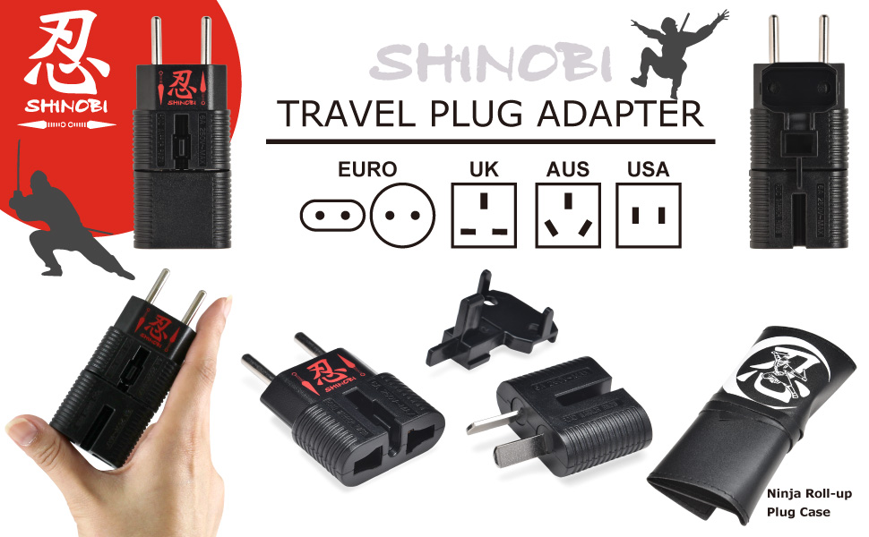 Amazon.com: ROAD WARRIOR Travel Universal Adapter EU/UK/AU ...