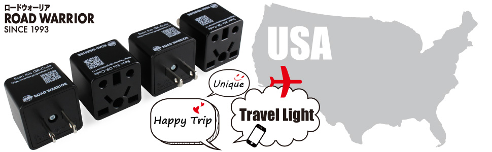 ROAD WARRIOR Travel Adapter Adaptor Euro UK AUS plug of electric appliance gadget the USA charger