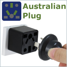AUS Australia China plug to US outlet adapter travel charger small compact Cute black socket gift