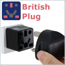 UK Hong Kong Singapore plug to US outlet adapter travel charger small compact Cute black socket gift