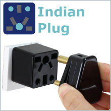 India plug to US outlet adapter travel charger small compact Cute red socket gift ROAD WARRIOR tiny