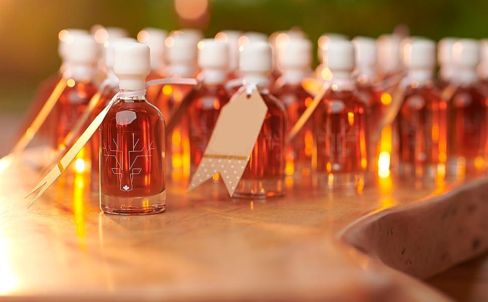 Maple Syrup Wedding Favors | Amazon Com Award Winning Escuminac Unblended Maple Syrup 12 X 50ml
