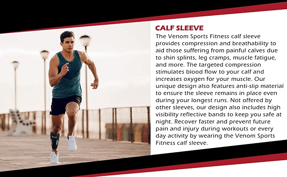 venom calf sleeve support brace sports fitness
