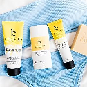 beauty by earth best face facial sunscreen zinc oxide reef safe sunblock 20 25 SPF elta md women