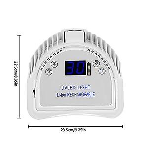Amazon.com: Mini LOP - Lámpara de uñas LED recargable para ...
