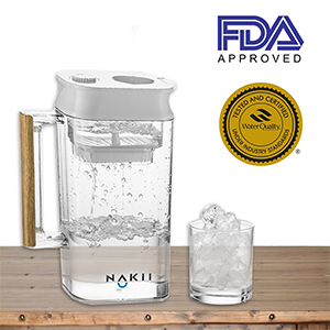 Alkaline water filter pitcher provides you with a whopping 150 gallons of purified water