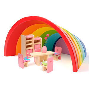 Wooden Rainbow Stacking Game Farbe Form Nesting Bausteine Creativ Matching Jigsaw Puzzle Game