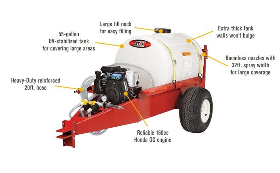 Amazon.com: Northstar tow-behind pulverizador – 55 galones ...