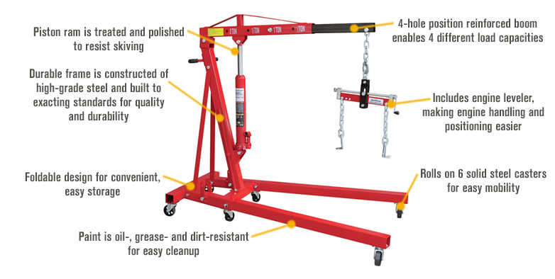 Amazon Com Strongway Hydraulic Engine Hoist With Load