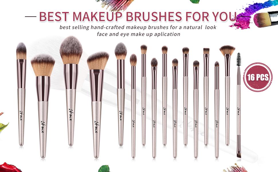 Makeup Brushes, ITME [Upgrade Version] Premium Makeup Brush Synthetic  Cosmetics Professional Handle