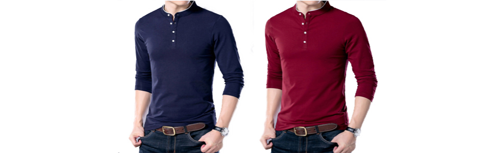 YTD Mens Summer Slim Fit Pure Color Short Sleeve Polo Casual T-Shirts