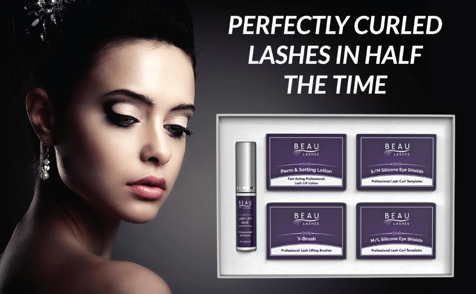Beau Lashes Eyelash Luxury Lash Kit Perfectly Curled Lashes In Half The Time