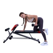 finer form multi functional bench - dumbbell row
