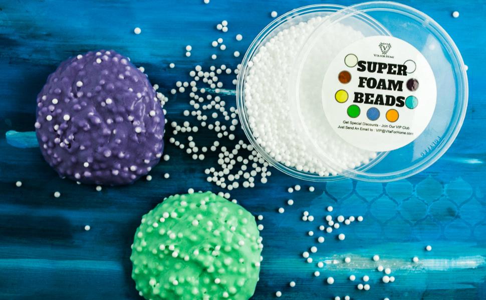 Foam Balls for Slime Prime Mini White Styrofoam Balls 8 Ounce Container