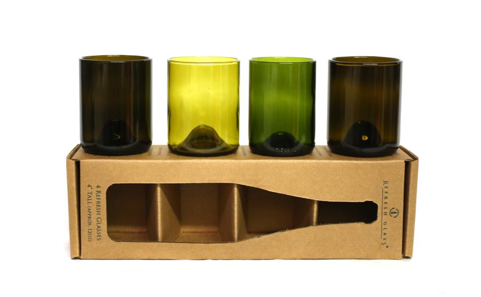 Refresh Glass Gift Set 12 oz