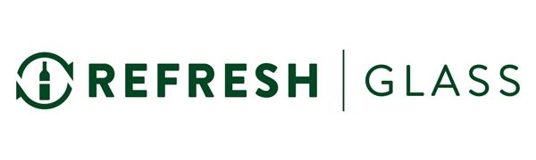 Refresh Glass Recycled Glassware Logo