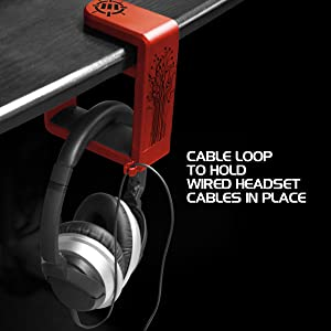 Cable loop holding the headphone's cable