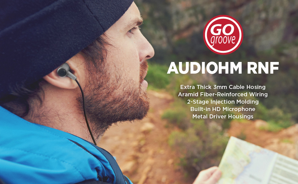 GOgroove AudiOHM RNF Heavy Duty Durable Earbuds