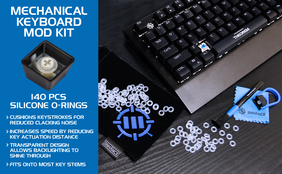 Reliable 120pcs Black/blue Switch Keycap Sound Dampeners Key Cap Rubber O-ring Buffer For Mechanical Keyboard Accessories To Be Distributed All Over The World Keyboards