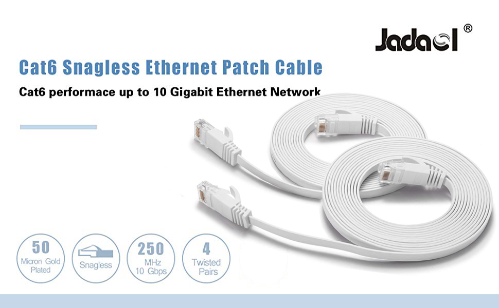 cat6 snagless ethernet patch cable