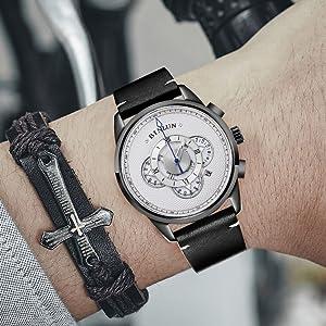 calfskin leather watch band