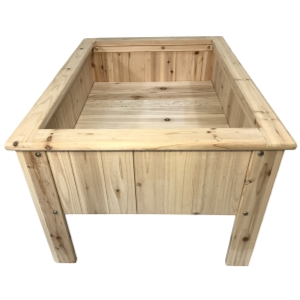 Boldly Growing raised bed wood gardening planter kit with legs elevated for fruits and vegetables