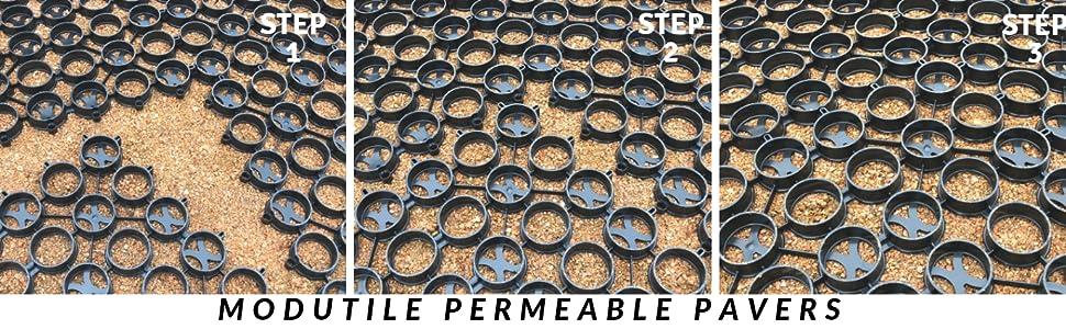 MODUTILE Interlocking Grass and Gravel Permeable Paver 20