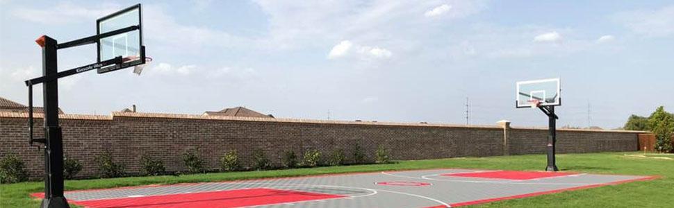 Amazoncom Modutile Outdoor Basketball Half Court Kit 20ft X 24ft