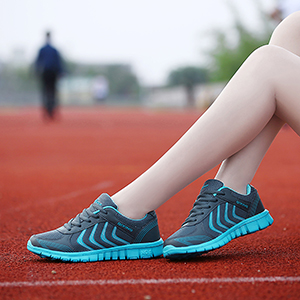 Women's Breathable Mesh Tennis Athletic Fashion Sneakers Walking Sports Road Running Shoes Plus Size